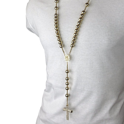 GOLD 15mm  GUADALUPE ROSARY