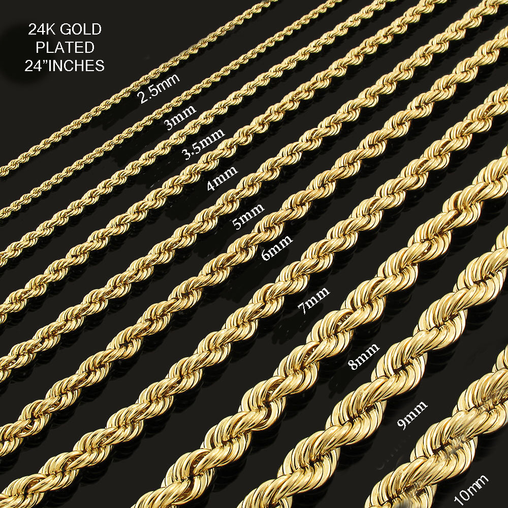 "Rope chains 24"" Inches All Sizes"