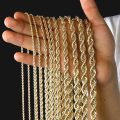 Gold Rope Chain 24""