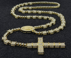 3D ICED OUT  GUADALUPE ROSARY