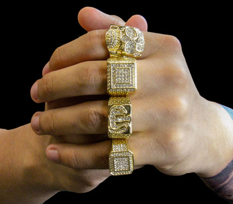 Allah Iced Out 4pcs Ring Set Bundle