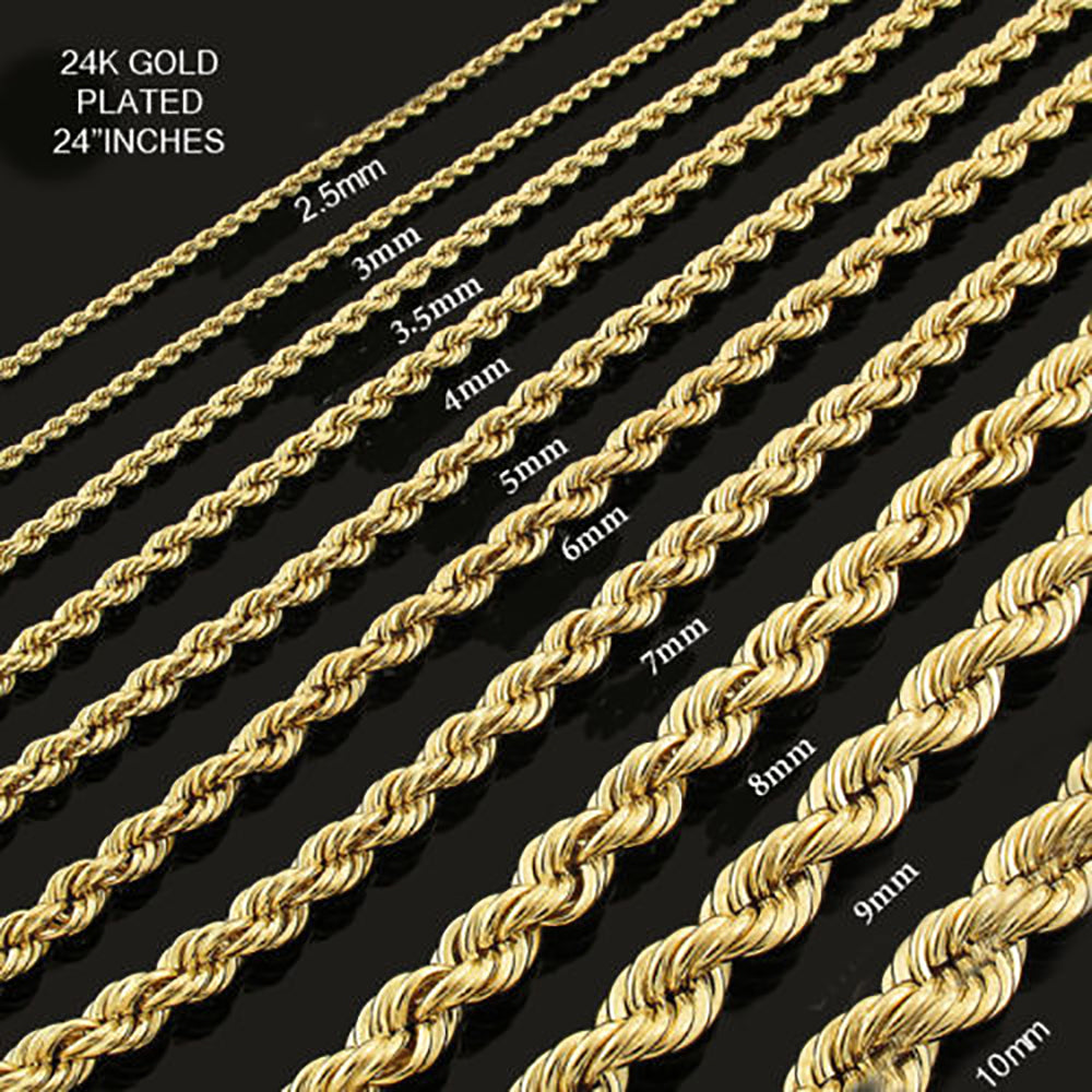 gold chains s thick jewelry bracelet plated men rope stylish color twisted chain for pp