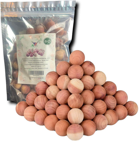 Image of Armour Shell Cedar Balls 120 Pieces - Premium Quality USA Wood Ball for Closet and Drawers, Protect Clothing with This Natural Alternative, Long Lasting and Family Safe. (120 Pack)