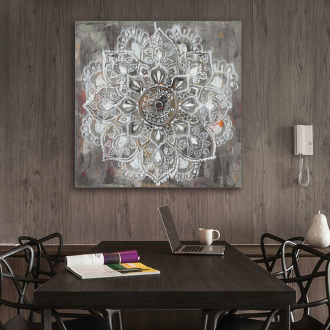Zen Mandala Distressed Canvas Painting
