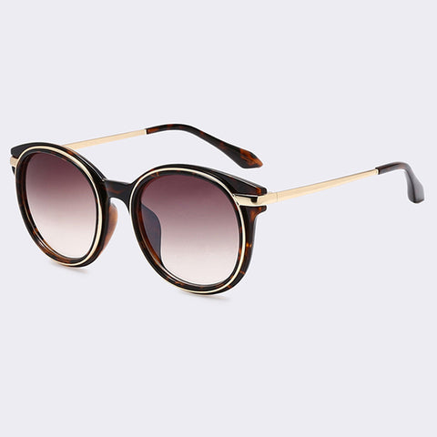 Oval Gradient Lens Classic Mirrored Glasses