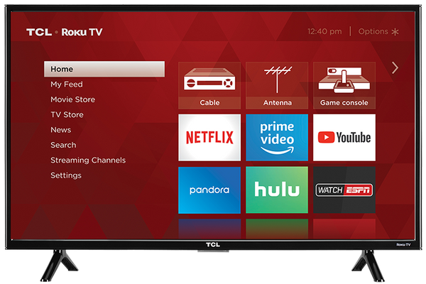 "32S301 TCL 32"" CLASS 3-SERIES HD LED ROKU SMART TV (Recertified) 1 year warranty Free Delivery"