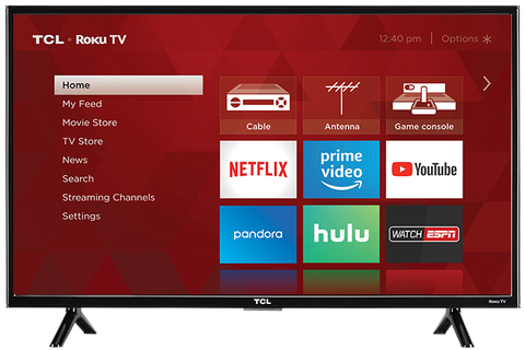 32S321 TCL 32 inch Class HD (720p) Roku Smart LED TV (Recertified) 1 year warranty Free Delivery