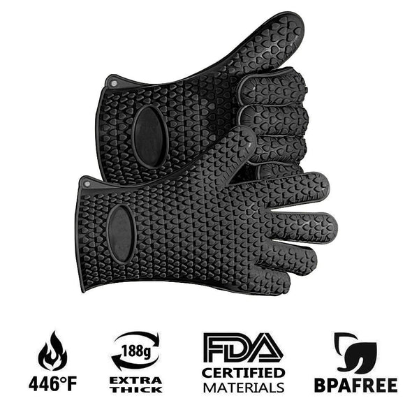 Pair of Amazing Silicone BBQ/Cooking Heat Resistant Glove.