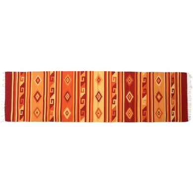 Mexican Bautista Runner Rug – Red / Orange / Yellow - Bohemian Lifestyle