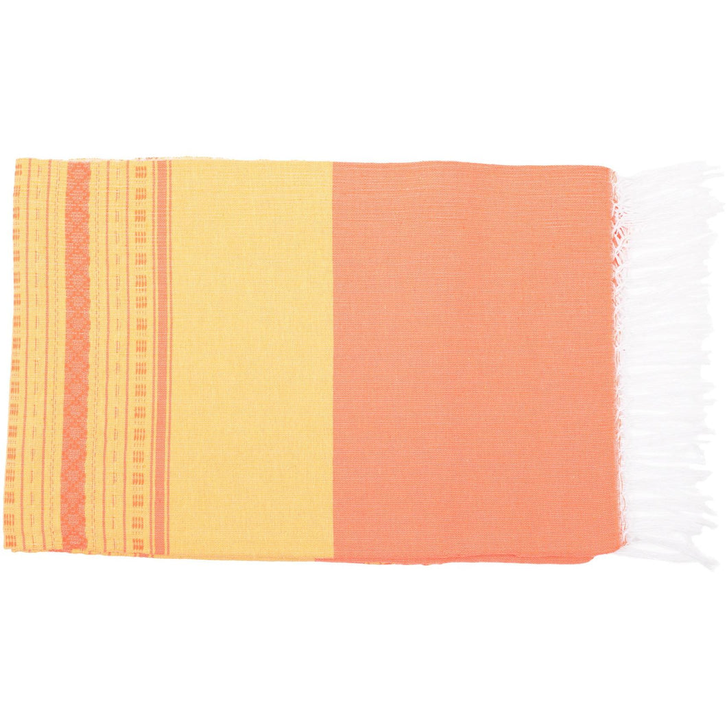 Mexican Yellow / Peach Throw - Bohemian Lifestyle