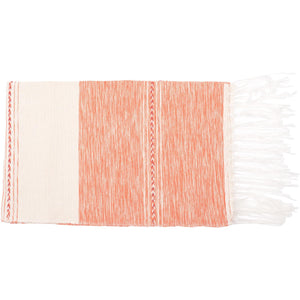 Mexican Cream / Peach Throw - Bohemian Lifestyle