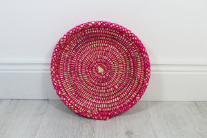 Moroccan Woven Plate - Hot Pink - Bohemian Lifestyle