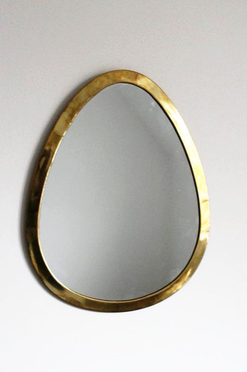 Moroccan Egg Shape Brass Mirror - Bohemian Lifestyle