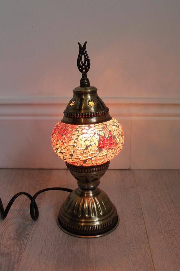 Turkish Mosaic Lamp - Purple (small) - Bohemian Lifestyle