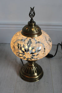 Turkish Mosaic Lamp - White Star - Bohemian Lifestyle