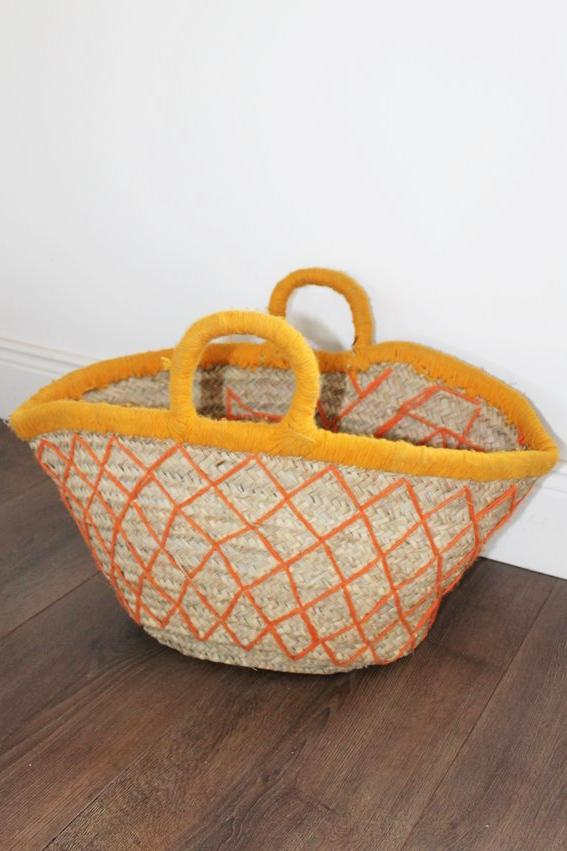 Chefchauen Shopper Basket - (FAULT ON STITCHING - LAST IN STOCK) - Bohemian Lifestyle