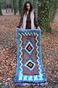 Vintage Moroccan Boucherouite Runner Rug No 2 - Bohemian Lifestyle