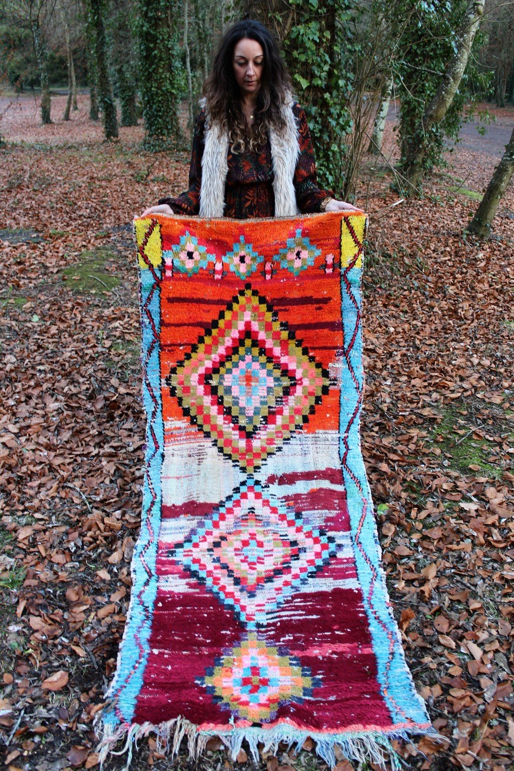 Vintage Moroccan Boucherouite Runner Rug No 1 - Bohemian Lifestyle