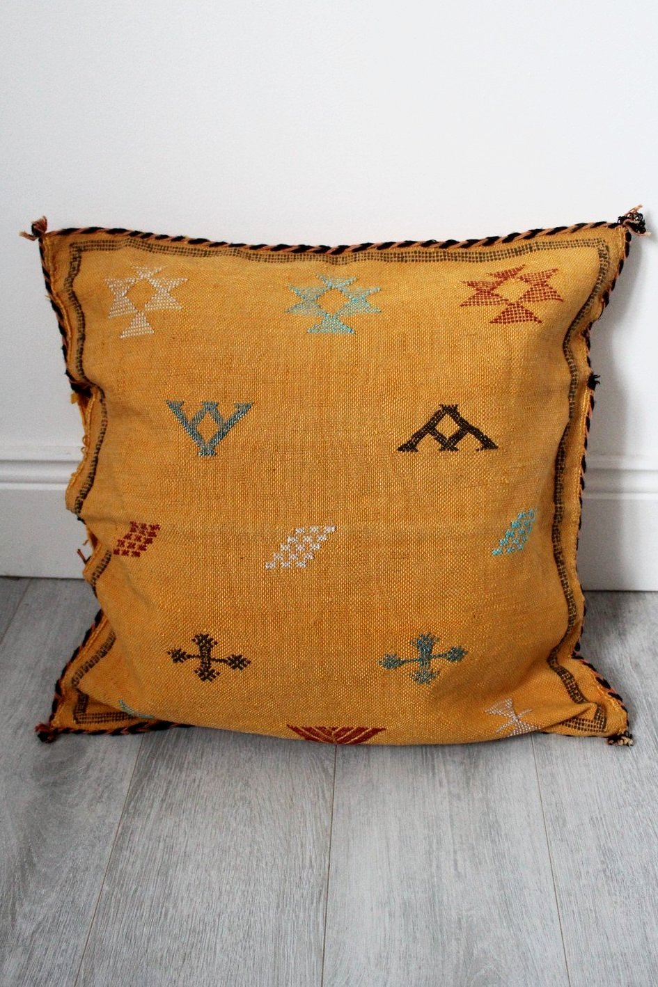 Moroccan Sabra Silk Cushion Cover No 11 - Bohemian Lifestyle