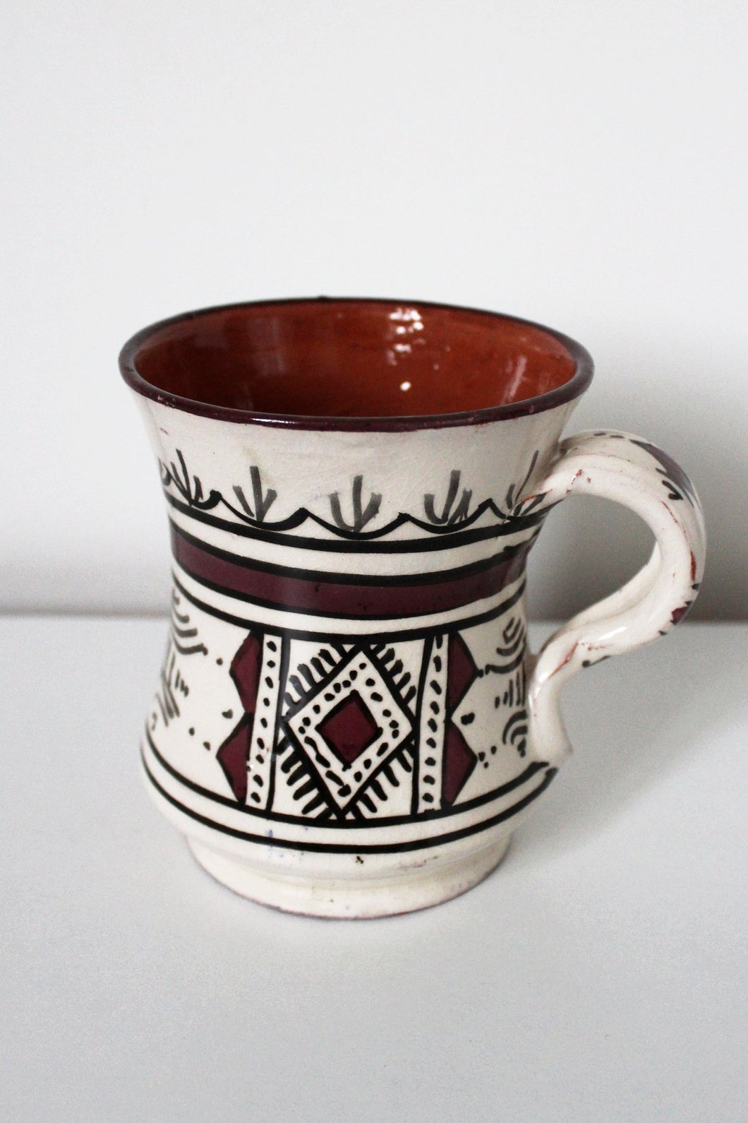 Safi Mug No 3 - White / Purple - Bohemian Lifestyle