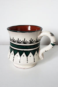 Safi Mug No 2 - White / Green - Bohemian Lifestyle