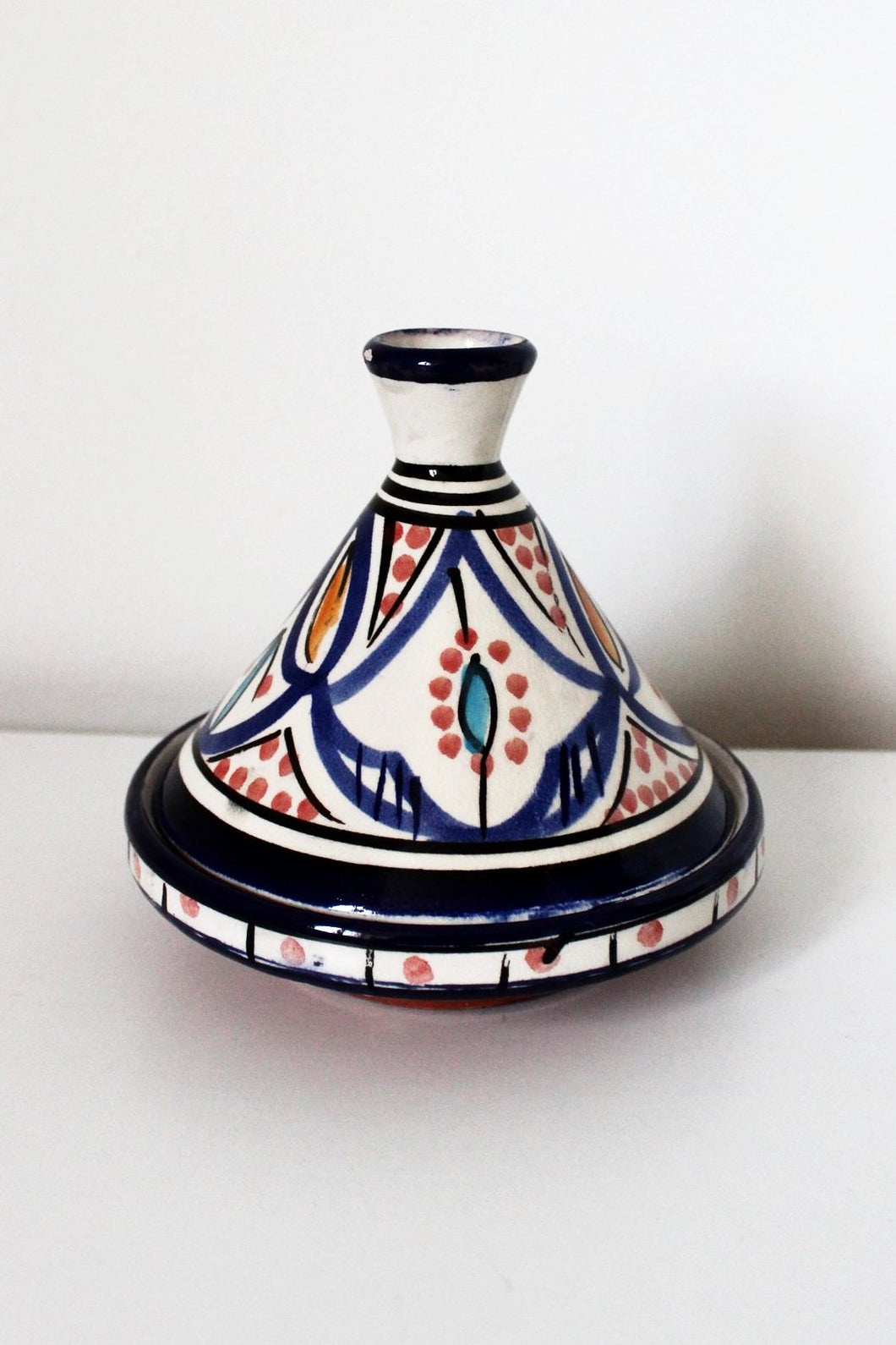 Safi  Blue / White / Yellow Tagine Condiment Pot - Bohemian Lifestyle