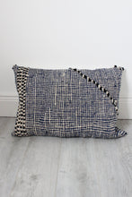 Moroccan Blue / Black/ White Kilim Cushion Cover - Bohemian Lifestyle