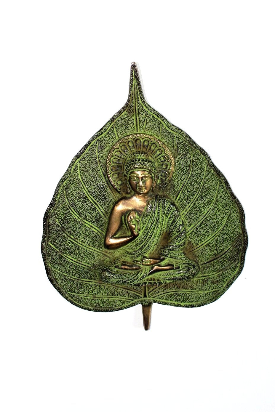 Indian Brass Buddha Leaf Wall hanging - Bohemian Lifestyle