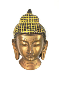 Indian Brass Buddha Face Wall hanging - Bohemian Lifestyle