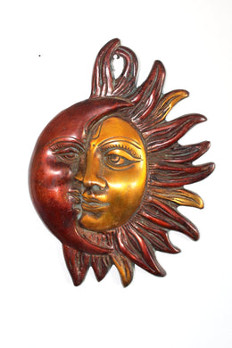 Indian Metal Sun and Moon Wall hanging - Bohemian Lifestyle