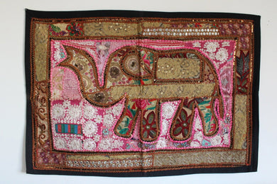Indian Embroidered Elephant Tapestry - No 1 - Bohemian Lifestyle