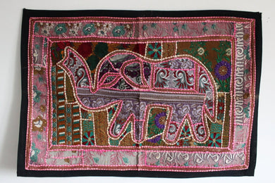 Indian Embroidered Elephant Tapestry - No 2 - Bohemian Lifestyle