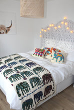 Indian Embroidered Elephant Quilt - Bohemian Lifestyle