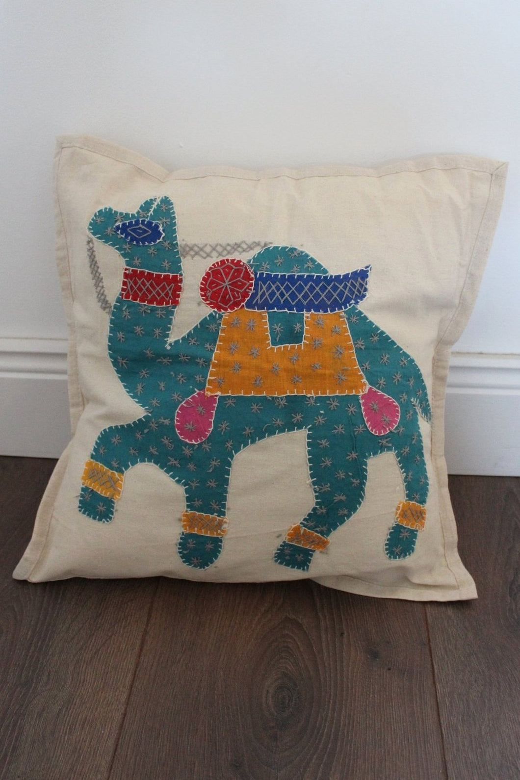 Indian Embroidered Cushion Cover - No 1 - Bohemian Lifestyle