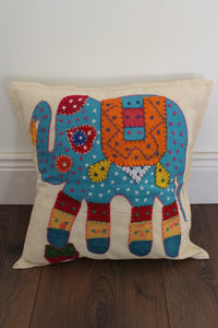 Indian Embroidered Cushion Cover - No 3 - Bohemian Lifestyle
