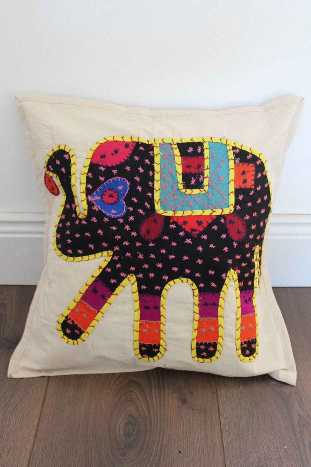 Indian Embroidered Cushion Cover - No 4 - Bohemian Lifestyle