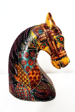 Kashmir Horse Head - Reclaimed Wood - Bohemian Lifestyle