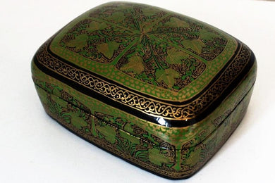 Kashmir Paper Mache Trinket Box No 4 - Bohemian Lifestyle