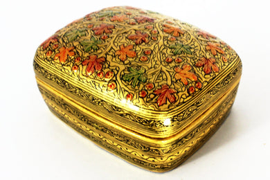 Kashmir Paper Mache Trinket Box No 2 - Bohemian Lifestyle
