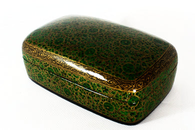 Kashmir Paper Mache Trinket Box No 3 - Bohemian Lifestyle