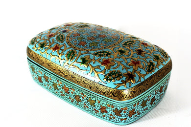 Kashmir Paper Mache Trinket Box No 1 - Bohemian Lifestyle