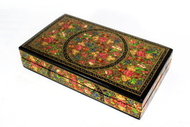 Kashmir Paper Mache Trinket Box No 8 - Bohemian Lifestyle