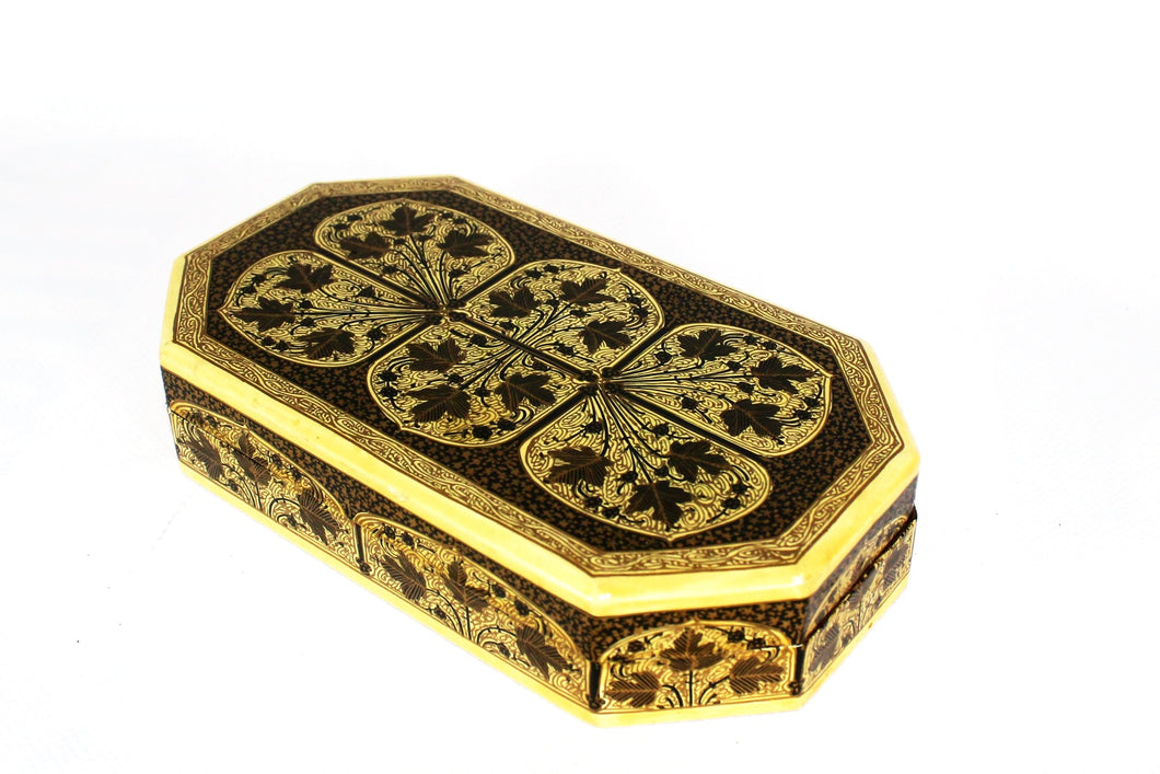 Kashmir Paper Mache Trinket Box No 9 - Bohemian Lifestyle