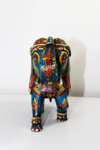 Kashmir Blue Elephant - Reclaimed Wood - Bohemian Lifestyle