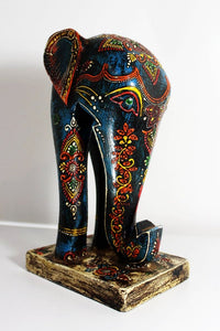 Kashmir Elephant Bookend - Reclaimed Wood - Bohemian Lifestyle