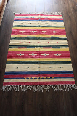 Indian Kilim Rug - Mysore No 6 - Bohemian Lifestyle