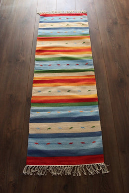 Indian Kilim Runner Rug /Yoga Mat - Mysore No 5 - Bohemian Lifestyle