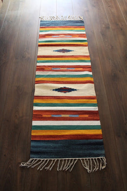 Indian Kilim Runner Rug / Yoga Mat - Mysore No 4 - Bohemian Lifestyle