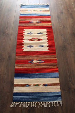 Indian Kilim Runner Rug / Yoga Mat - Mysore No 3 - Bohemian Lifestyle