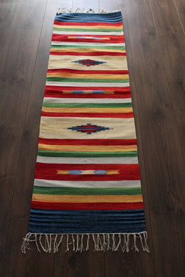 Indian Kilim Runner Rug / Yoga Mat - Mysore No 2 - Bohemian Lifestyle